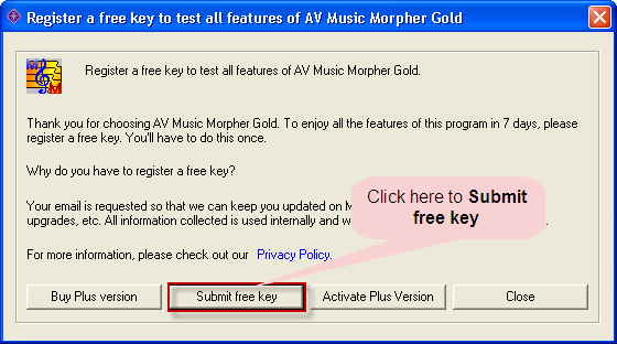 Getting Free key for Music Morpher Gold - free tutorial
