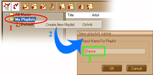 how to create playlist for party