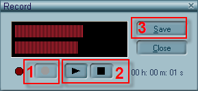 mp3 player - recorder dialog
