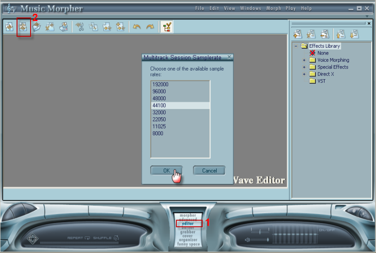 mp3 player - Editor