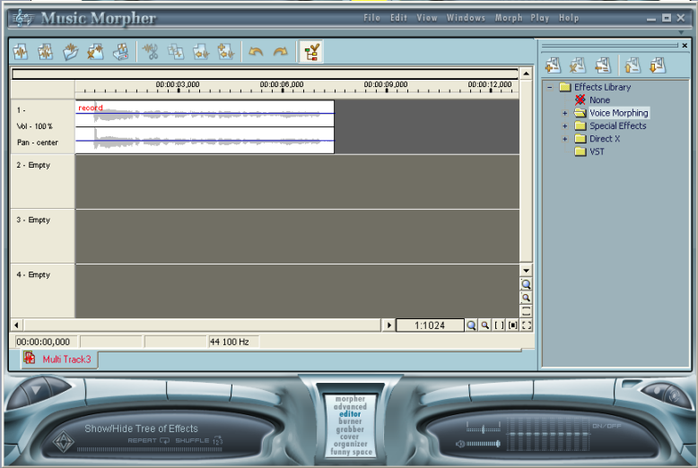 mp3 player - multitrack